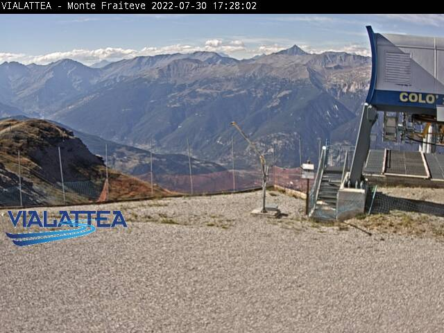Sauze d'Oulx webcam - Top of Fraiteve