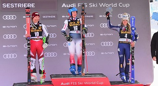 BASSINO ON THE PODIUM OF THE PARALLEL IN SESTRIERE